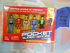 U13_15 DC Direct Lot POCKET COMIC SUPER HEROES JLA BOX SET 5 PACK + MINI ATOM