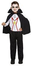 Boys Girls Vampire Dracula Kids Halloween Fancy Dress Costume Outfit Age 3-12
