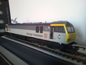 """Hornby R289 Class 92 Electric Railfreight """"Charles Dickens"""" for spares or repair"""
