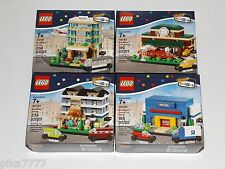 2015 LEGO BRICKTOBER HOTEL Train Station BAKERY Toys R Us Store complete 4 set
