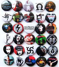 MARILYN MANSON Button Badges Pins Antichrist Superstar Tourniquet Lot of 30
