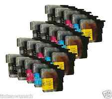 20 Ink cartridges XL for Brother LC985 LC-985 BK MFC-J220 DCP-J315 W DCP-J125