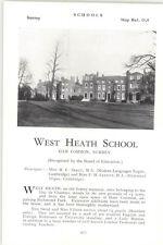 1932 School West Heath School Ham Common Surrey Principles Skeat Elliot Ad