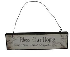 Heaven Sends Bless our Home Plaque - Pretty Gift for Engagement / Wedding