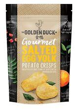 The Golden Duck Gourmet Salted Egg Yolk Potato Crisps Chips Crunchy 125g SEALED