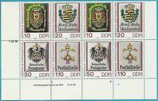 DDR aus 1990 ** postfrisch MiNr.3302-3305 2x4ér Block mit DV - Posthausschilder!