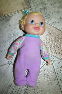 2009 HASBRO BABY ALIVE INTERACTIVE BLOND MOLDED HAIR