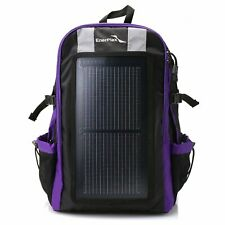Portable Solar Charger Backpack 3W Solar Panel Charger Bookbag Hiking Camping