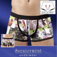 Elastische Hipster Pants Classic Premium Front-Zip Druck in S M L XL XXL Svenj