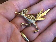 Vintage Designer Signed BOUCHER Rhinestone Eye ROAD RUNNER Bird Pin Brooch