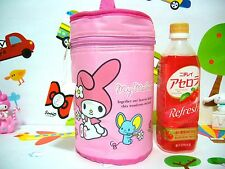 Sanrio My Melody Nylon Cylindrical Lunch Bag for Girls - Light Pink