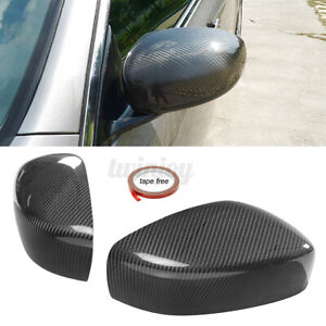 For INFINITI G25 G37 Q40 Q60 09-15 Real Carbon Fiber Door Side Mirror Cover Cap