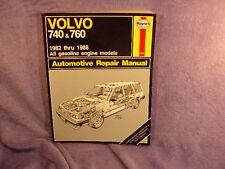 Vtg 1982 - 1988 HAYNES VOLVO 740 & 760 Repair Maintenance Mechanics Manual