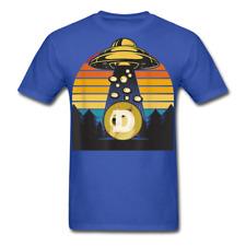 Dogecoin To the Moon shirt Doge HODL Rocket Crypto Meme UFO T-Shirt Size S-6XL