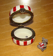 Boyds Bears Sugar's Peppermint Candy w/Mintley (by Enesco, 4022281) Treasure Box