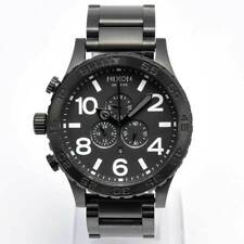 NIXON Mens Watch 51-30 Chronograph All Black Steel A083-001 A083001