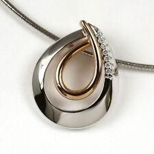 Halsketten und Anhänger aus mehrfarbigem Gold mit SI Reinheit