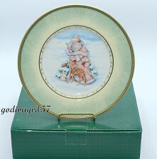 Set of 4 Fitz and Floyd China Winter Holiday Santa Portrait Salad Plates -