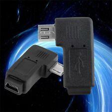 USB Mini 5Pin Female to Micro 5Pin Male 90 Degree Angle Adapter Converter KW