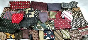 Mens ties craft lot of 46 silk and poly great for crafting