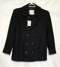 Rothco US Navy Type Pea Coat Navy Blue Wool Blend Men Size S 36