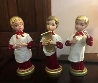 3 Antique Vintage Christmas Choir Boys w/ Gold Hair (Possible Store Display)