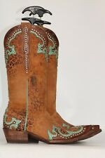 Beautiful RARE Old Gringo studded applique Leopardito Cowboy Boots 7 M NWOB
