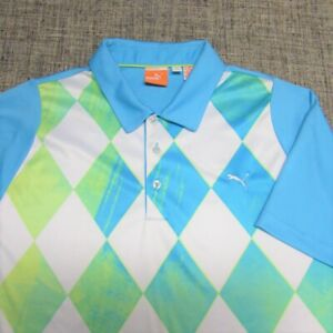 PUMA POLY DRY CELL GOLF SHIRT--L--CAT--AWESOME COLORS--TOP SPOTLESS QUALITY