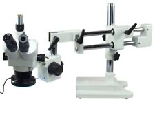 Omax 5X-80X Boom Stand Trinocular Zoom Stereo Microscope with 144 Led Light