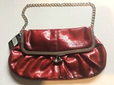 Accessorise Nevbury Red Ombré Crinkle Chain Shoulder Strap Evening BagBig Clasp