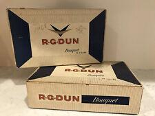 VINTAGE R.G. Dun Bouquet Regal Blunt Cigar Box 2/25c, 50 Cigars Empty Lot Of (2)