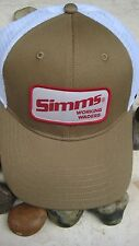 "Simms Small Patch ""Working Waders"" Trucker Hat,O/S, Coffee , NWT's"