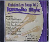 Christian Love Songs Volume 2 Christian Karaoke Style NEW CD+G Daywind 6 Songs