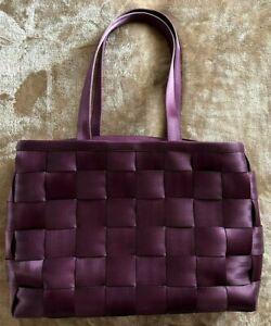 Harveys Seatbelt Large Satchel Purple
