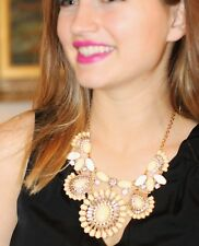 Kate Spade Capri Garden Earrings & Necklace set lot ivory cream gold Gorgeous!