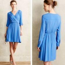 Anthropologie Maeve FAB! Lene Faux Wrap Zipper Pocket Dress  PXS