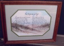 Home Interior Wood Framed The Footprints of God Picture