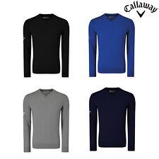 Callaway Men's V-Neck Merino Sweater (CGGS80Z2) - Golf Tour Golfing Jumper