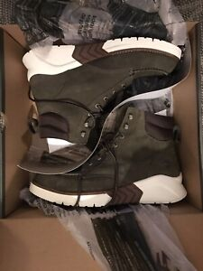 Timberland Men's MTCR Moc Toe Boots - Olive Nubuck 10.5