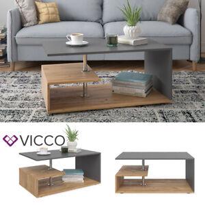VICCO Couchtisch GUILLERMO in Anthrazit Sandeiche - Wohnzimmer Tisch Kaffeetisch