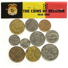 MIXED LOT 10 BELGIUM COINS FRANCS CENTIMES  OLD COLLECTIBLE COINS 1948-2001