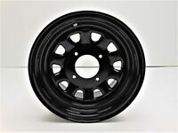ITP Delta Steel Wheel 12x7 5+2 Offset 4/115 Bolt Pattern Black