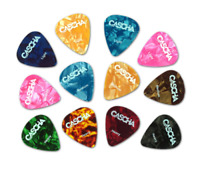 Cascha Guitar Pick Set (12-Stück) -  3 verschiedene Stärken gemischt