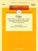 Giga for Flute Sonata in F Major, Op. 1 No. 1 Sheet Music Book/CD G F Handel