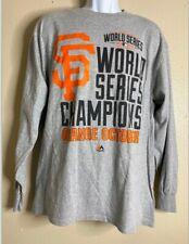 Majestic Men Size XL Gray World Series Champions T Shirt Long Sleeve