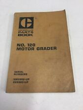 Caterpillar No.120 Motor Grader Parts Book