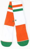 Stance Womens Miami Hurricanes Crew Socks Orange Green M New