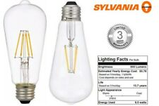 Sylvania Vintage Clear Glass Dimmable Filament LED ST19 800 E26 60W Edison Warm