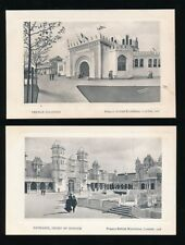 Exhibitions 1908 London FRANCO-BRITISH x 4 PPCs Valentine die sunk series