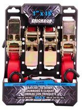 Ratchet Tie Down Load Restraint 25mm x 4.5M x 500kg Ratchet Strap 4 Pk Ute Strap